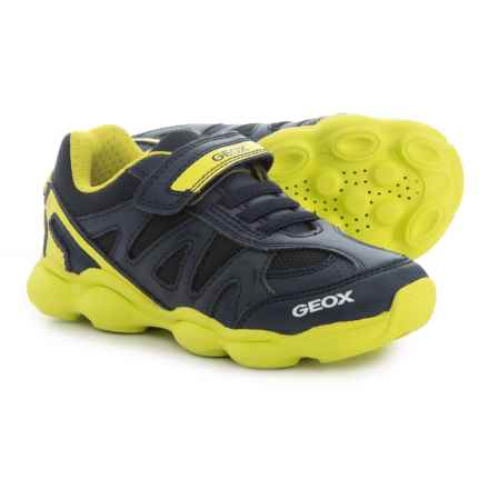 Geox Munfrey Sneakers (For Boys) in Navy/Lime - Closeouts