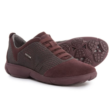 Geox Nebula Sneakers (For Women) in Dark Burgundy