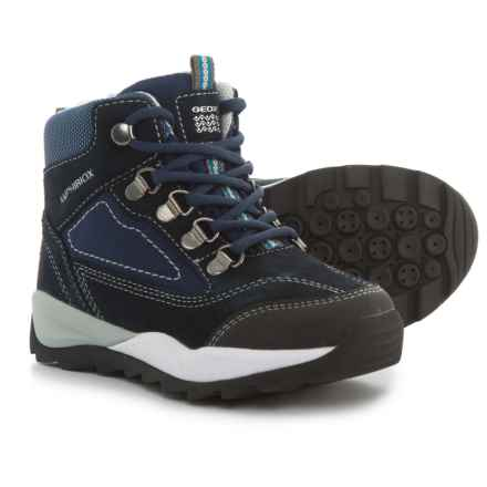 Geox Orizont Hiking Boots (For Boys) in Navy/Grey - Closeouts