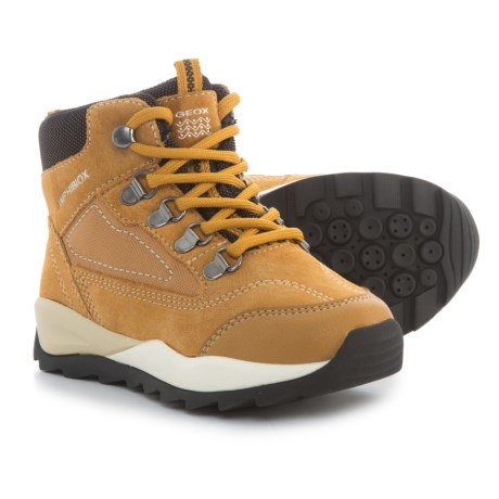 Geox Orizont Hiking Boots (For Boys) in Ochreyellow/Coffee
