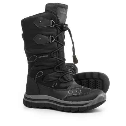 Geox Overland Snow Boots - Waterproof (Little and Big Girl) in Black - Closeouts
