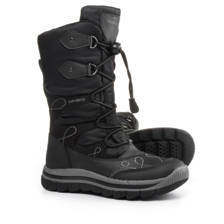 Geox Overland Snow Boots - Waterproof (Little and Big Girl) in Black