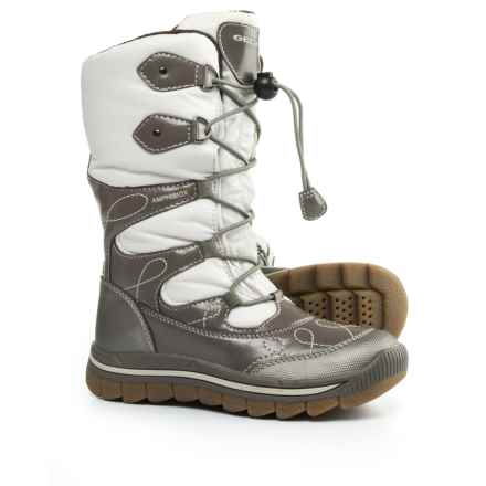 Geox Overland Snow Boots - Waterproof (Little and Big Girl) in Off White/Taupe - Closeouts