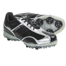 Geox Protech Flair Golf Shoes - Waterproof (For Women) in Black/Silver - Closeouts