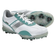 Geox Protech Flair Golf Shoes - Waterproof (For Women) in White/Turquoise - Closeouts