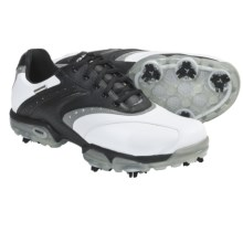Geox Protech Saddle Golf Shoes - Waterproof (For Men) in White/Black - Closeouts