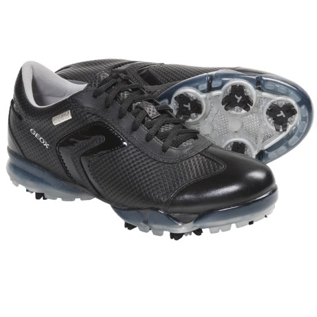 Geox Protech Spirit Golf Shoes - Waterproof (For Women) in White/Black