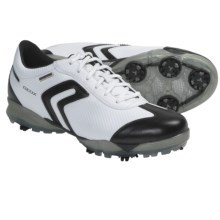 Geox Protech Spirit Golf Shoes - Waterproof (For Women) in White/Black - Closeouts