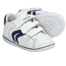 Geox Summer Flick Sneakers - Leather (For Infants and Toddlers) in White/Blue - Closeouts