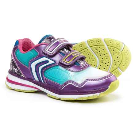 Geox Top Fly Sneakers (For Little and Big Girls) in Purple/Turquoise - Closeouts