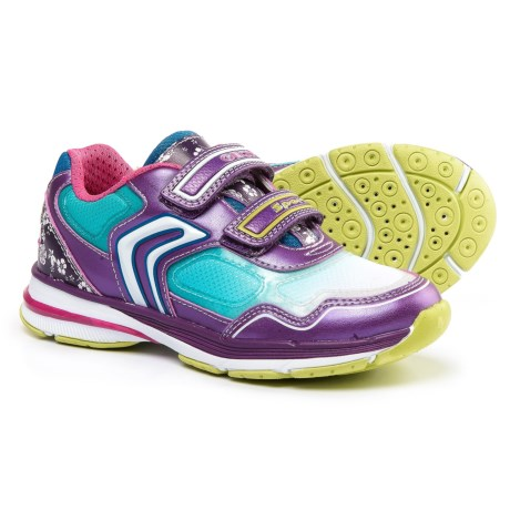 Geox Top Fly Sneakers (For Little and Big Girls) in Purple/Turquoise