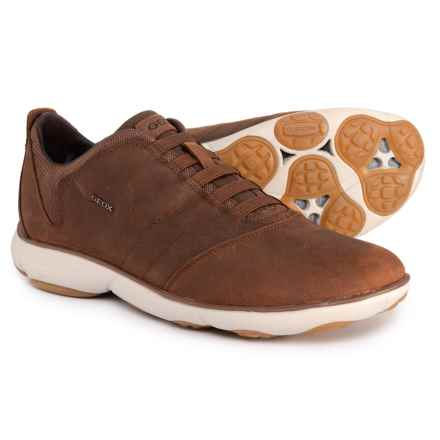 Geox U Nebula B Sneakers - Leather (For Men) in Light Brown - Closeouts