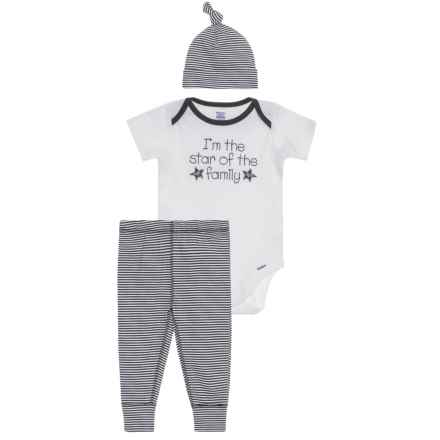 Gerber Organic Family Star Onesie, Pants & Cap Set - 3-Piece (For Newborn) in Black - Closeouts