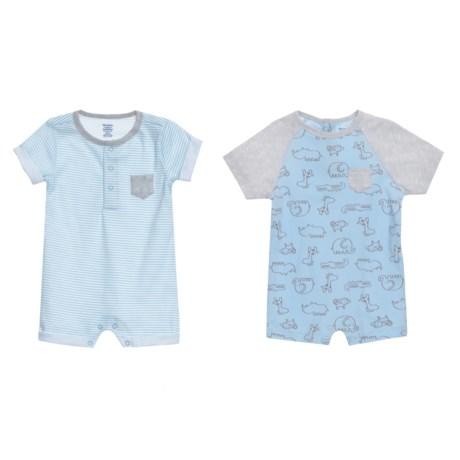 Gerber Organic Safari Rompers - 2-Pack (For Newborn Boys) in Blue