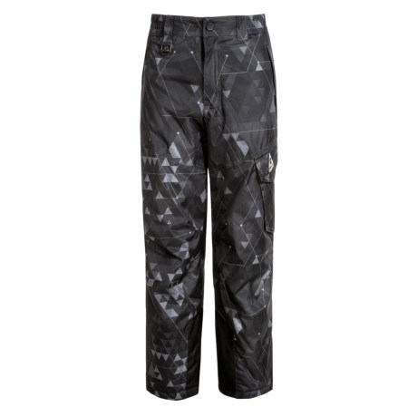 Gerry Stance Printed Ski Pants - Insulated (For Big Boys) in Dark Grey