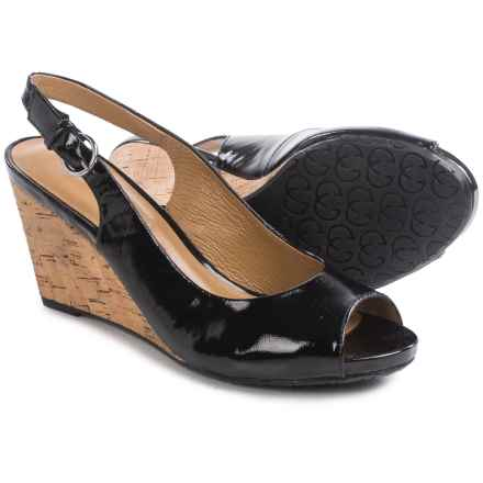 Gerry Weber Adelina 05 Wedge Sandals - Patent Leather (For Women) in Black Patent - Closeouts