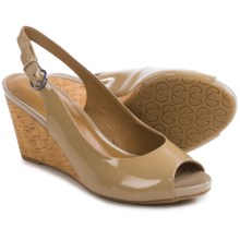 Gerry Weber Adelina 05 Wedge Sandals - Patent Leather (For Women) in Nude Patent - Closeouts
