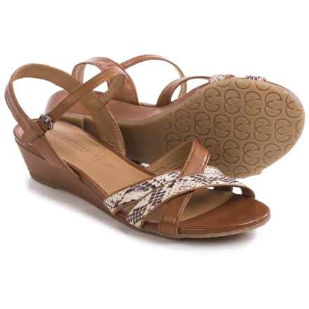 Gerry Weber Alisha 02 Sandals - Leather (For Women) in Brown Combo Reptile - Closeouts
