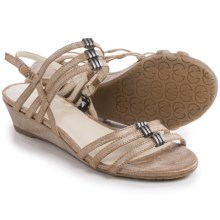 Gerry Weber Alisha 03 Sandals - Leather (For Women) in Bronze Metallic - Closeouts