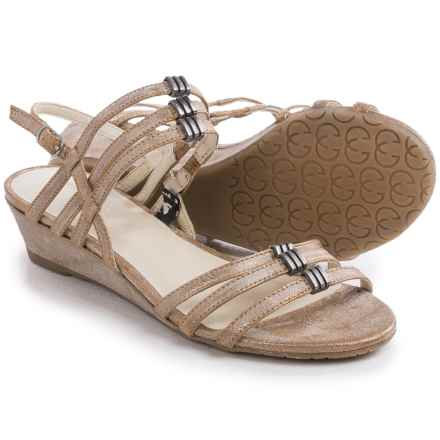 Gerry Weber Alisha 03 Sandals - Leather (For Women) in Bronze Metallic - Closeouts