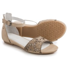 Gerry Weber Beach 03 Sandals - Leather (For Women) in Beige - Closeouts