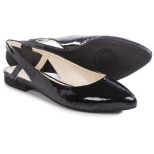 Gerry Weber Edith 04 Flats - Leather, Slip-Ons (For Women) in Black Patent - Closeouts