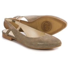 Gerry Weber Edith 04 Flats - Leather, Slip-Ons (For Women) in Khaki - Closeouts