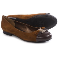 Gerry Weber Lisa 02 Shoes - Suede, Slip-Ons (For Women) in Brown Combo - Closeouts