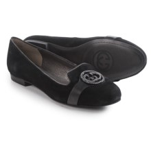 Gerry Weber Lisa 03 Shoes - Suede, Slip-Ons (For Women) in Black - Closeouts