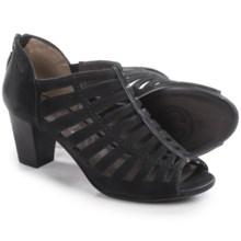 Gerry Weber Lotta 04 Peep Toe Sandals - Nubuck (For Women) in Black Nubuck - Closeouts