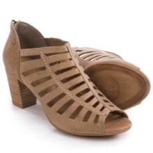 Gerry Weber Lotta 04 Peep Toe Sandals - Nubuck (For Women) in Creme Nubuck - Closeouts