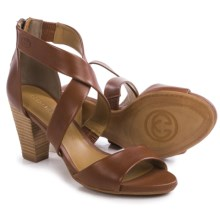 Gerry Weber Maggi 02 Sandals - Leather (For Women) in Cognac - Closeouts