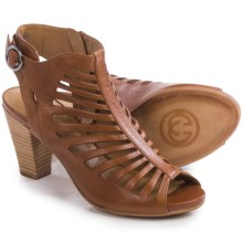 Gerry Weber Maggi 03 Cage Sandals - Leather (For Women) in Wood - Closeouts