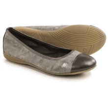 Gerry Weber Maren 13 Ballet Flats - Leather (For Women) in Silver/Khaki - Closeouts