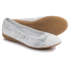 Gerry Weber Maren 13 Ballet Flats - Leather (For Women) in White/Silver - Closeouts