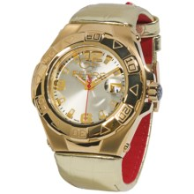 GF Ferre Gold PVD-Coated Watch in White/Gold/White - Closeouts