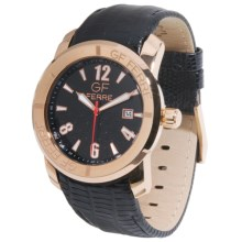 GF Ferre Watch - Gold Stainless Steel Case, Date Window in Black/Rose Gold/Black - Closeouts