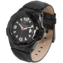 GF Ferre Watch - Three o'Clock Date Window in Black/Black - Closeouts