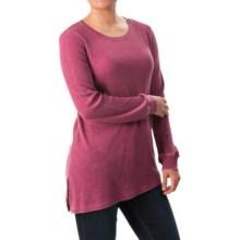 G.H. Bass & Co. Asymmetrical Waffle-Knit Shirt - Long Sleeve (For Women) in Black - Closeouts