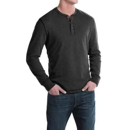 G.H. Bass & Co. Carbon Henley Shirt - Long Sleeve (For Men) in 027 Black Heather - Closeouts