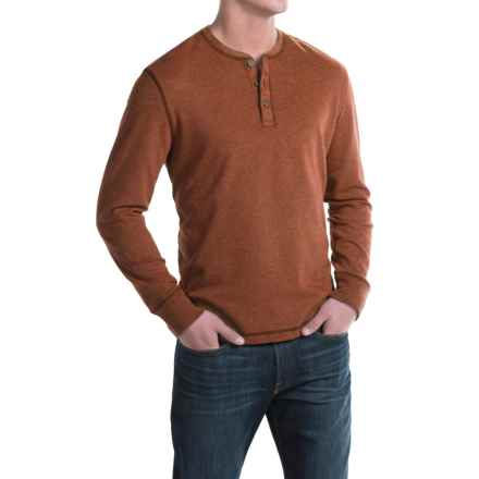 G.H. Bass & Co. Carbon Henley Shirt - Long Sleeve (For Men) in 812 Saffron Spice - Closeouts