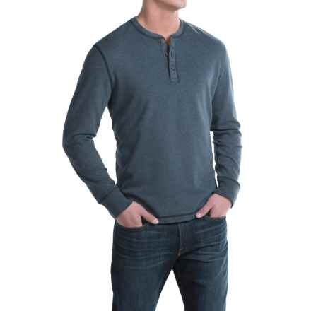 G.H. Bass & Co. Carbon Henley Shirt - Long Sleeve (For Men) in Dark Midnight Heather - Closeouts