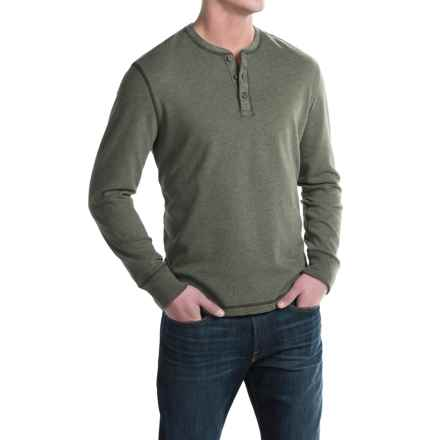 G.H. Bass & Co. Carbon Henley Shirt - Long Sleeve (For Men) in Forest Night Heather - Closeouts