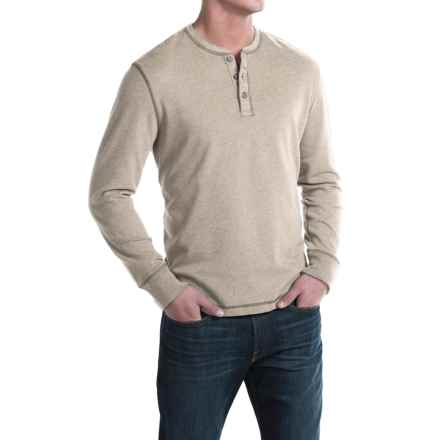 G.H. Bass & Co. Carbon Henley Shirt - Long Sleeve (For Men) in Plaza Taupe Heather - Closeouts