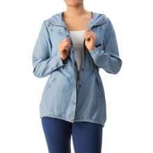 G.H. Bass & Co. Chambray Jacket - Hooded (For Women) in Blue Shale Combo - Closeouts