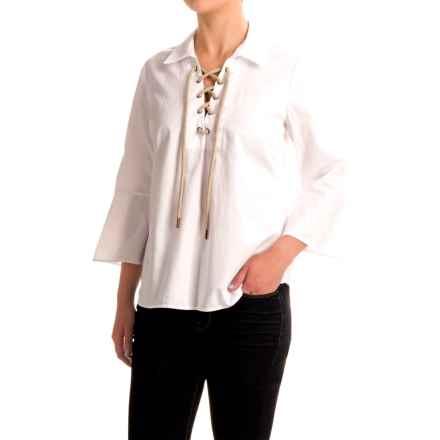 G.H. Bass & Co. Chambray Shirt - Long Sleeve (For Women) in White - Closeouts