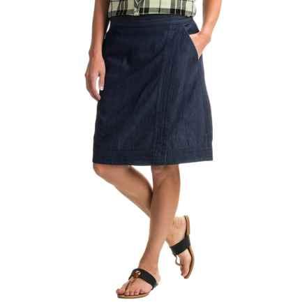 G.H. Bass & Co. Chambray Skirt (For Women) in Dark Indigo - Closeouts
