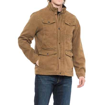G.H. Bass & Co. Cotton Canvas Field Jacket - Insulated (For Men) in Worker Brown - Closeouts