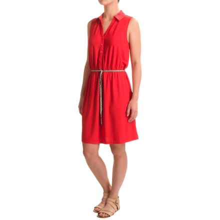 G.H. Bass & Co. Crepe Jersey Dress - Sleeveless (For Women) in Tomato - Closeouts