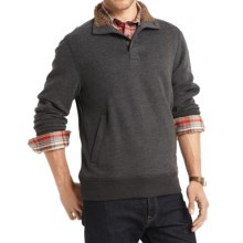 G.H. Bass & Co. Dale Sueded Mock Fleece Pullover Shirt - Long Sleeve (For Men) in Black Heather - Closeouts